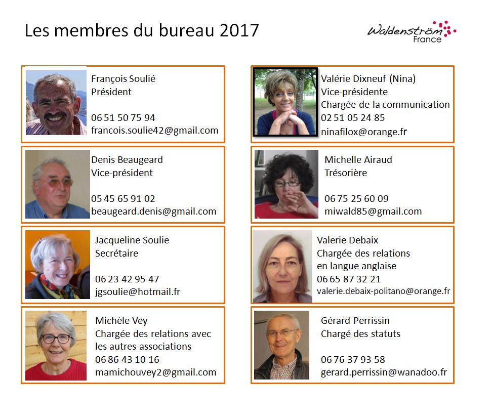Les membres du bureau 2017